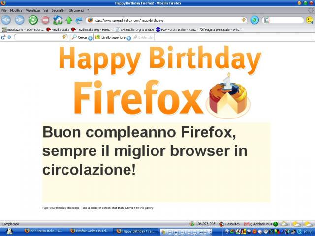 Mozilla Digital Memory Bank-Firefox wishes in italian