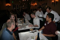 Mozilla employees at dinner