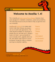 The Mozilla 1.4 Start Page
