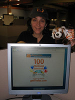 Marcia with Limited Edition Firefox Polo Cap