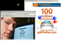 Go Firefox! 100,000,000 Downloads w00t!