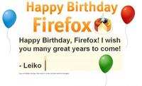 Happy B-day, Firefox!